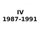 IV 1987-1991