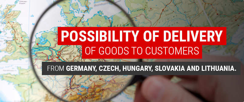 Possibility of delivery of goods to customers